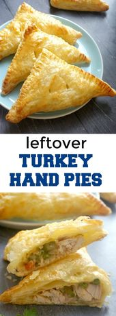 Leftover Turkey Hand Pies with Puff Pastry