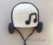 Crochet baby hat, hat with headphones, crochet baby beanie, toddler hat, handmade crochet hat, boy and girl hat