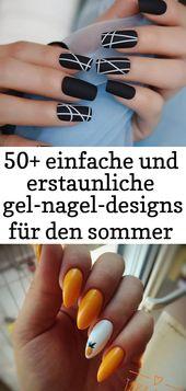 50+ einfache und erstaunliche Sommer-Gel-Nageldesigns – Seite 4 von 50 – Nägel 16   – Nagel