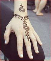 Henna Tattoo Hand Einfach – Image Project