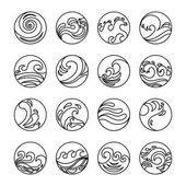 Stock Vector Vector – Wave Icons Set. Water Symbol…