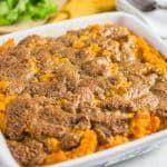 Receta de cazuela de batata (con relleno de streusel)   – Gluten Free