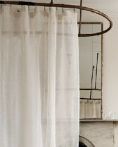 Photo of Eileen Fisher Sheer Linen Shower Curtain