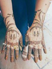 Karwa Chauth Mehndi Idées de design pour les mariées | Karwa Chauth Inspiration | karwa chauth mehndi / henné   – Mehndi