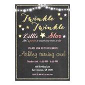 Baby Showers Twinkle Twinkle Twinkle Little Star Chalkboard invitation