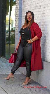 15 Coole Mollig Damen Outfits Ideen für Diesen Wi…