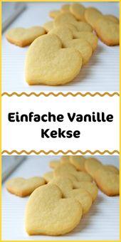 Einfache Vanillekekse   – Kuchen & Torten Rezepte