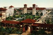 Details about Vintage POSTER print.Stylish Graphics.St.Augustine in 1898 view.Room Decor.584