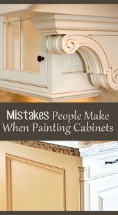 5 Fehler, die Menschen beim Malen von Küchenschränken machen