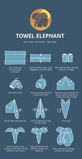 Waschtag etwas interessanter gestalten – Wie man Handtuchtiere faltet [6 pictures – Tiere Bilder