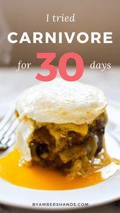 ¿Qué sucedió cuando comí solo productos animales durante 30 días? #carnívoro #keto #die …