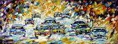 """""""Tourenwagenrennen"""" von Mirek Kuzniar, Öl auf Leinwand #Fülltechnik #Impress …   – Spachteltechnik: Technik und Verkehr"""