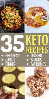 Si está buscando recetas fáciles de ceto para el desayuno, el almuerzo, la cena, los refrigerios y …