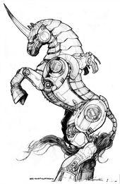 Black Market Robot Steed Unicorn by ChuckWalton – …