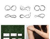 Valeur de symbole de l'infini  temporaire tatouage par Tattify