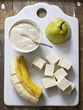 Banane, tofu + poire purée de nourriture pour bébé   – Food Baby