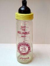 Reliable Life Insurance Company Hygeia Dairy Glass Baby Bottle 1957 Glass Baby Bottles Bottle Baby Bottles