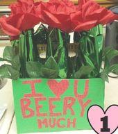Beer Man Bouquet / Die besten DIY Valentinstag Geschenke für ihn   – diy valentines