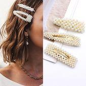 2019 Mode Frau Haarschmuck Perle Haarspange Pin Metall Geometrische Legierung Haarband Haarspangen Hairgrip Haarspange Mädchen Halter Haarschmuck Zubehör Stirnbänder Schmuck Von Hirame, $ 32.71 | DHgate.Com