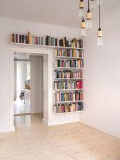Lieben Sie die offenen, einzigartigen Regale anstelle der Bücherschränke