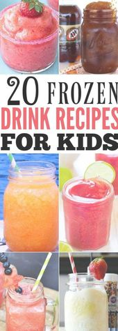 Take a look at these 20 kid friendly frozen drink recipes. Beat the heat with th…   – drinks nonalcoholic