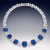 Magnificent sapphire and diamond necklace-bracelet…