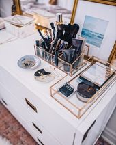 25+ Fabulous Makeup Storage Design-Ideen, um Ihr M…