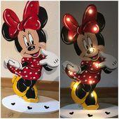 Schlummerleuchte Minnie In 2020 Minnie Kids Deco Wood Working Gifts