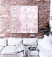 Je Anime Mon Amour Vintage-Collage mit Typografie in zartem Rosa und Grau, Kunstdruck, sofortiger Download, Valentinstag-Grußkarte   – my Etsy Shop