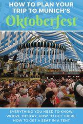 So planen Sie einen Ausflug zum Oktoberfest in München   – Europe Travel – #Aus… – Oktoberfest Photo