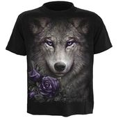 Grey Wolf With Roses Tee