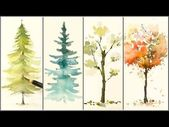(40) How to Paint 4 Different Trees for Beginners | Easy Watercolor Tutorials – …