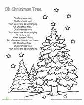 Oh Christmas Tree Lyrics Worksheet Education Com Christmas Carols Lyrics Holiday Songs Christmas Songs Lyrics