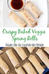 Crispy Baked Veggie Spring Rolls