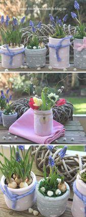 Das geht fix No. 37 – Frühlingsdeko basteln mit bunten Socken – Tischlein deck dich