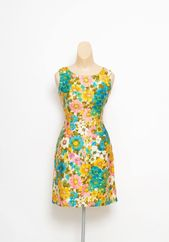 Vintage 60s dress, Vintage 1960's Lei-ipo Hawaiian Sleeveless, Dress Summer Dress Pin Up ,Party dress , floral dress, Tiki dress, Petite