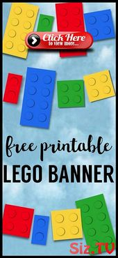 Lego Banner {Lego Party Printables}, #Banner #Lego #legoprintables #Party #Printables   – Lego