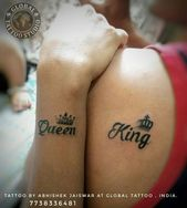 Trending couples goal tattoo KING & QUEEN TATTOO DONE AT BIG GUYS PROFESSIONAL