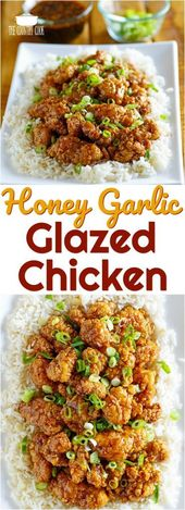 Easy Honey Garlic Glazed Chicken recipe from The Country Cook #ad #FeedABee #chi…