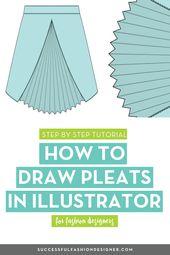 Illustrator Shortcuts  How to Draw Pleats in Illustrator
