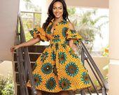 African clothing for women/ African prints dress for proms/ Ankara dress for weddings/ African shirtdress/Ankara shirtdressGY450