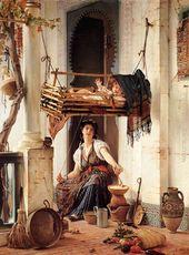 Famous Algeria Paintings Sanatsal Resimler Guzel Sanatlar