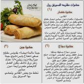 سبرنج رول Tunisian Food Food Receipes Food Recipies