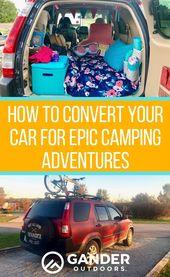 Comment convertir votre voiture pour des aventures de camping épiques   – Carcamping