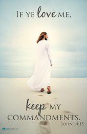 """2019 """"If ye love me…"""" POSTER – Follow – Young Men/Women – LDS"""