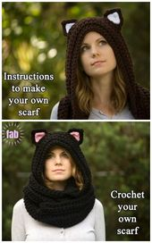 Crochet Cuddly Cat Scoodie Free Crochet Pattern & Paid – Häkeln