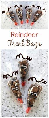 Reindeer Treat Bags – Julegaver – Reindeer Treat Bags – Julegave …