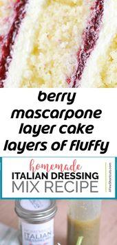 Beeren – Mascarpone – Schichtkuchen Schichten von flauschigem Vanillekuchen, frischer Beerenfüllung und Mascarpone – Peitsche 4