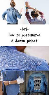 DIy to Try # Maßgeschneiderte Jeansjacken   – Selbstgemacht und aufgewertet