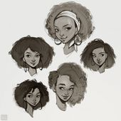 Aqui estão algumas artes que fiz no ano passado, quando criei algumas …   – Cartoon Females